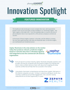 Congratulations to Zephyr Health for being our latest Innovation Spotlight!
