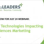 Register for Webinar – 10 Hot Technologies Impacting Life Sciences Marketing